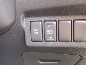 VDC(横滑り軽減)・ドライビングランプスイッチ