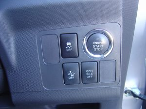 トラクションコントロール・スマートアシスト・eco IDLEスイッチ、エンジンスタートボタン
