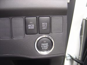 ecoモード・ecoIDLEスイッチ・エンジンスタートボタン