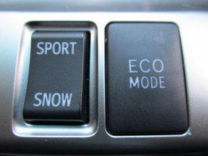 SPORT・SNOW切り替え、ECO MODEスイッチ