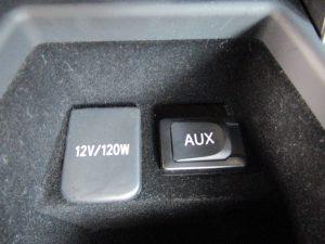 パワーアウトレット・AUX端子
