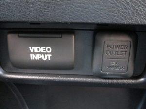 ビデオ入力、パワーアウトレット