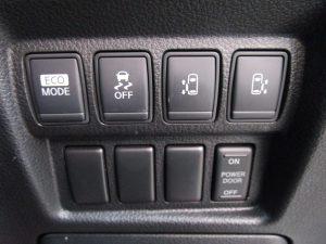 エコモード、VDC、両側電動スライドドアスイッチ