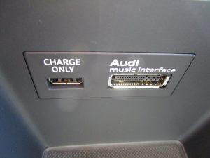 充電専用USB端子、Audi MMI接続端子