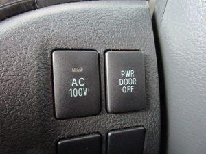 AC100V、パワードアスイッチ