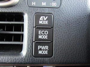 EV、エコ、パワーモードスイッチ