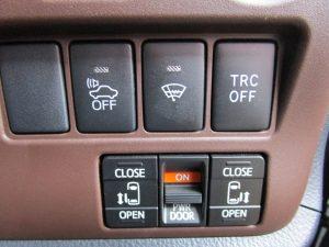 車両接近通報装置、フロントガラス熱線、TRC、両側電動スライドドアスイッチ