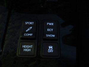 TEMS、ECT、ハイトコントロール、TRCスイッチ