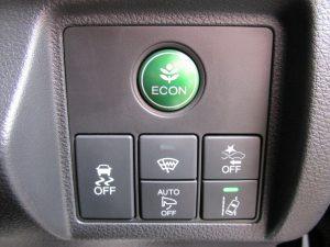 ECON、VSA、フロントガラス熱線、衝突被害軽減ブレーキ、オートミラー、LDWスイッチ