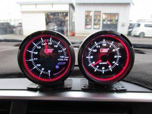 AutoGauge 電圧計・時計