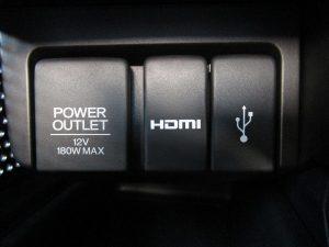 パワーアウトレット、HDMI、USB