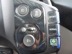 フォグランプ、横滑り防止装置、モード切替スイッチ