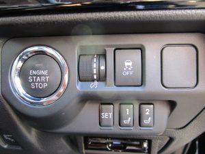 プッシュスタートボタン、ESC、メモリーシートスイッチ
