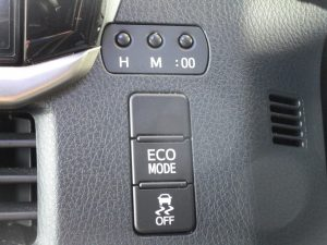 ECOMODEスイッチ、横滑り防止装置スイッチ