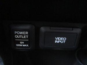 パワーアウトレット、ビデオインプット