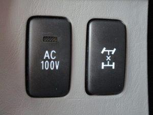 AC電源、センターデフロックスイッチ