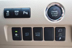 横滑り防止装置、室内灯、パーキングセンサー、ナノイー、AFS、ECOMODE、電動格納ミラースイッチ
