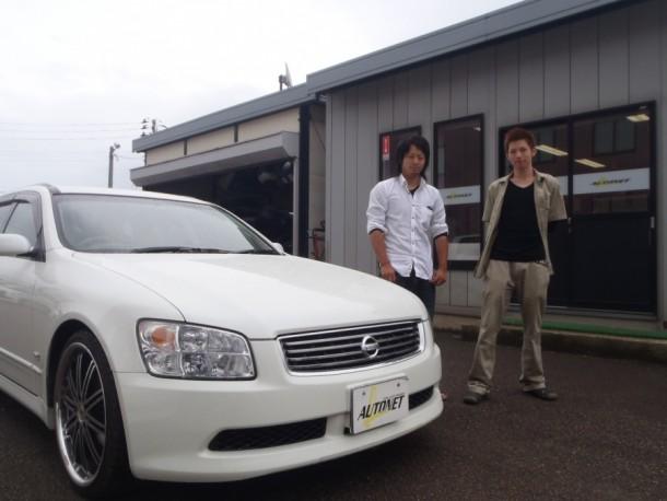 新潟県  本間さん 購入した車:日産 ステージア